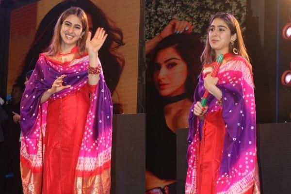 sara ali khan looks beautiful as she attends event in kolkata