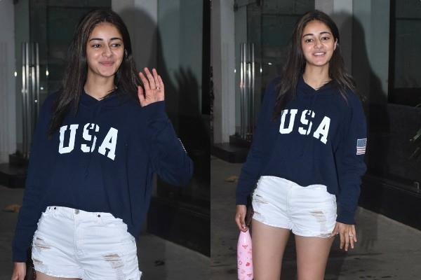 actress ananya pandey spotted at sunny super sound studio