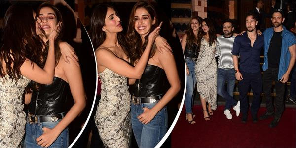 war success party vaani kapoor show love for disha patani