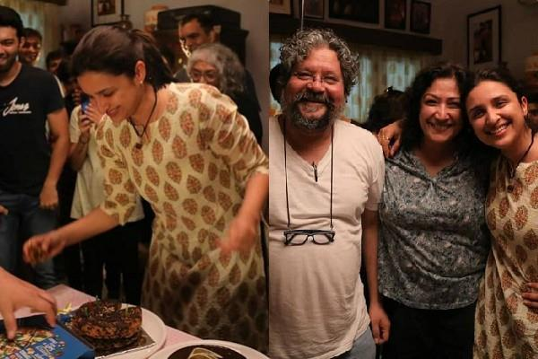 parineeti chopra celebrates birthday at upcoming film saina nehwal set