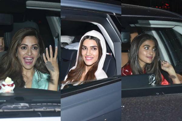kriti sanon kriti kharbanda pooja hegde in special screening of housefull 4