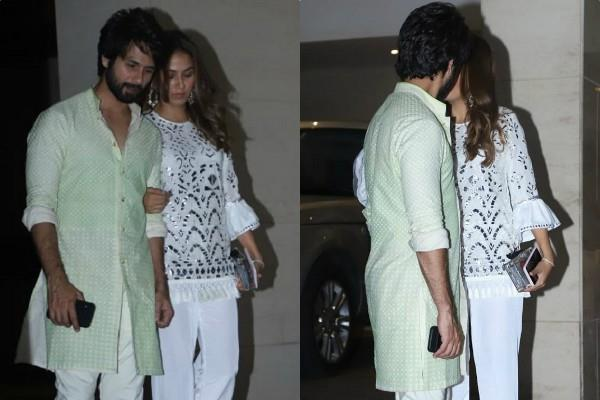 shahid kapoor mira rajput couple goals they attend diwali party
