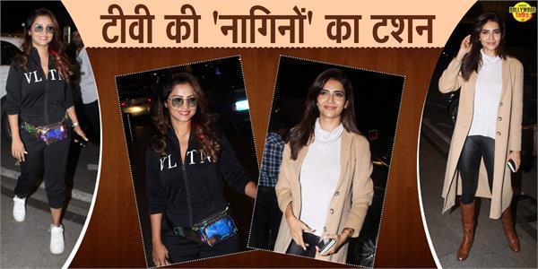 karishma tanna adaa khan spotted at mumbai airport