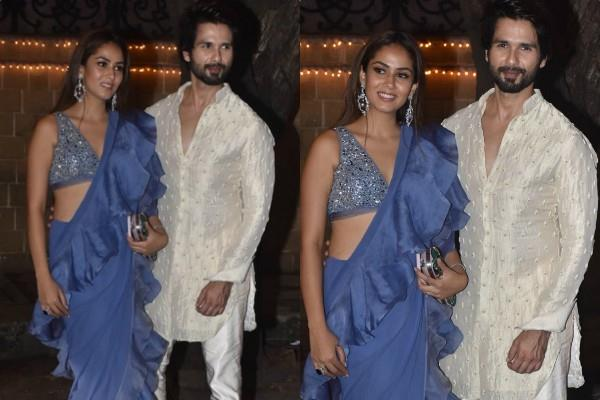 shahid kapoor stylish appearance at diwali party with wife mira rajput