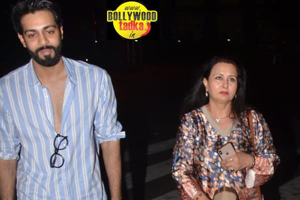 poonam dhillon with son at bastian bandra