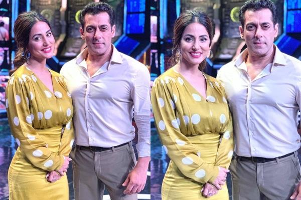 hina hina reached the set of big boss13 shared the picture with salman khan