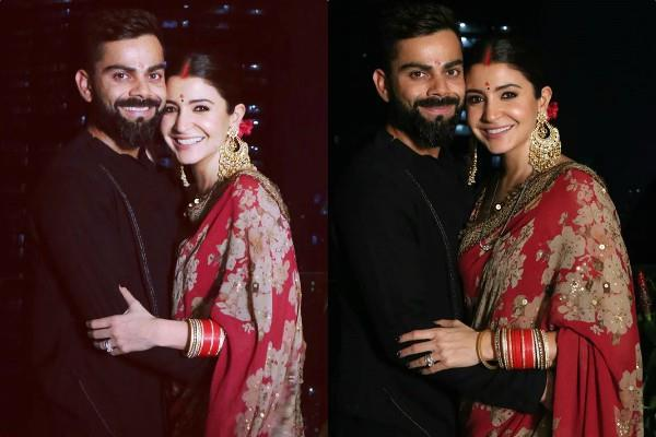 couple virat kohli and anushka sharma celebrated karvachauth