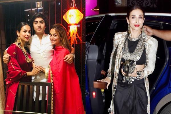 malaika arora celebrates diwali with son arhaan and family