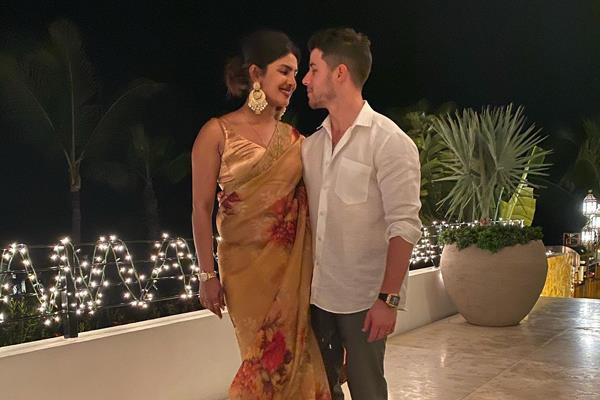 priyanka chopra looks beautiful she celebrates her first diwali nick jonas