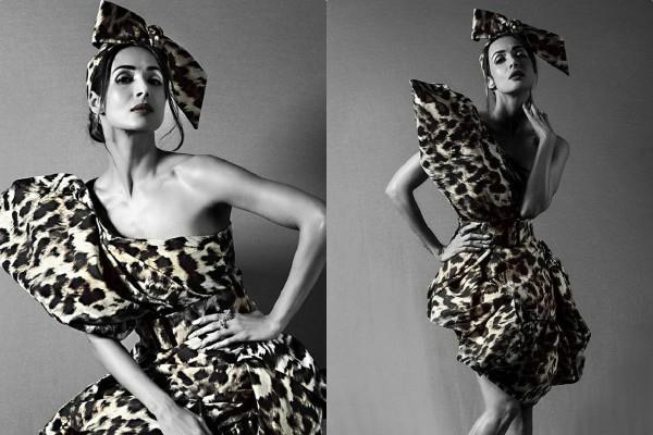 malaika arora looks stylish in animal printed outfit