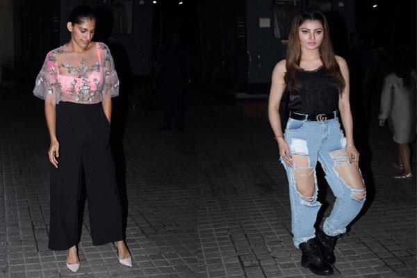 kubra urvashi become attention sikar at special screening of the sky is pink