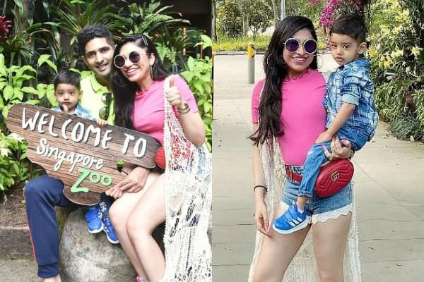 famous singer tulsi kumar enjoying holidays in singapore with husband