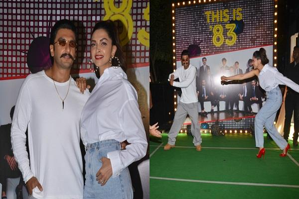 stars arrive at 83 s wrap up party ranveer hit sixer at deepika s ball