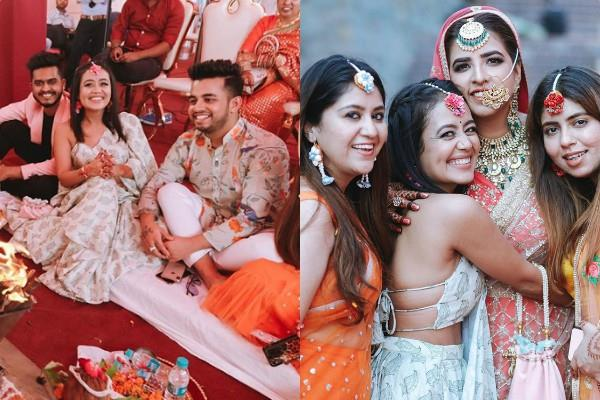 neha kakkar enjoys friend wedding with rumoured boyfriend vibhor parashar