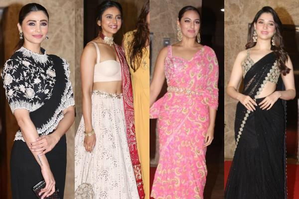 bollywood stars attend ramesh taurani diwali party