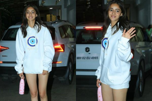 ananya pandey trendy look she step out dubbing studio