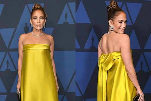 actress jennifer lopez spotted at the annual governors awards show