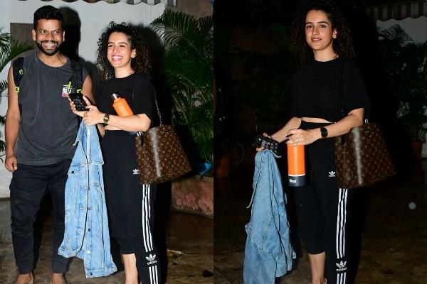 sanya malhotra looks cool as she spotted at outside the studio