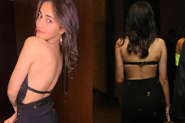 ananya pandey looks bold in backless outfit
