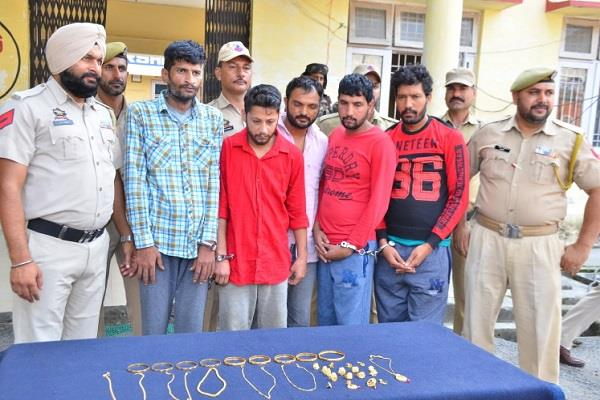 big success of police 5 accused of 2 inter state gangs arrested