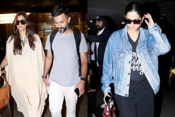sonam kapoor and rhea kapoor return from maldives vacation