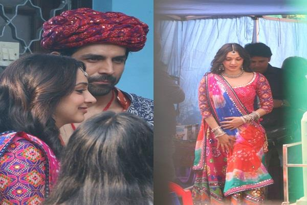 karthik and kiara seen in rajasthani look on the sets of  bhool bhulaiya 2