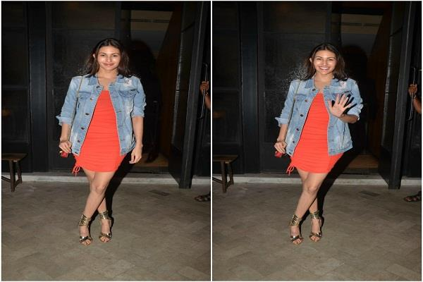 amaira spotted outside the restaurant seen stunning in short dress