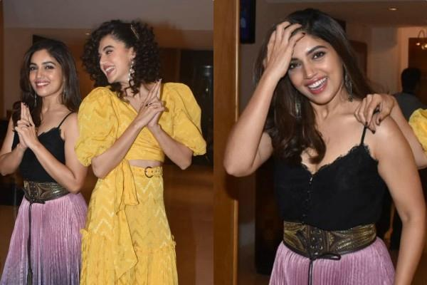 tapsi pannu and kiara advani looked stunning at promotion of saand ki aankh