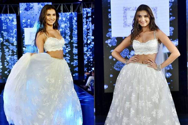tara sutaria looks princess in white lehenga