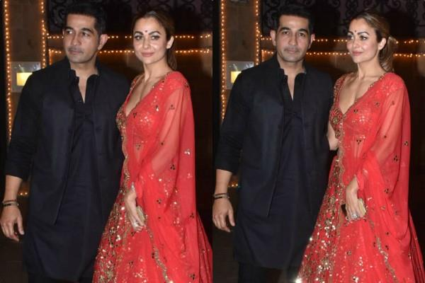 amrita arora spotted at anil kapoor diwali party with her husband