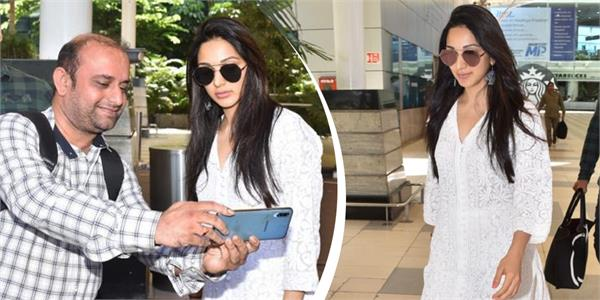 kiara advani looks beautiful in white ethnic attire