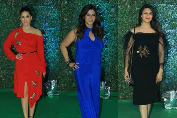 bollywood stars reached at ekta kapoor success party