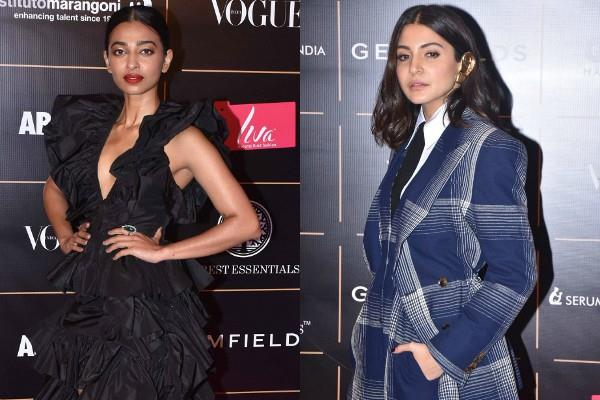 anushka sharma and radhika apte looked gorgeous at vogue women year award show