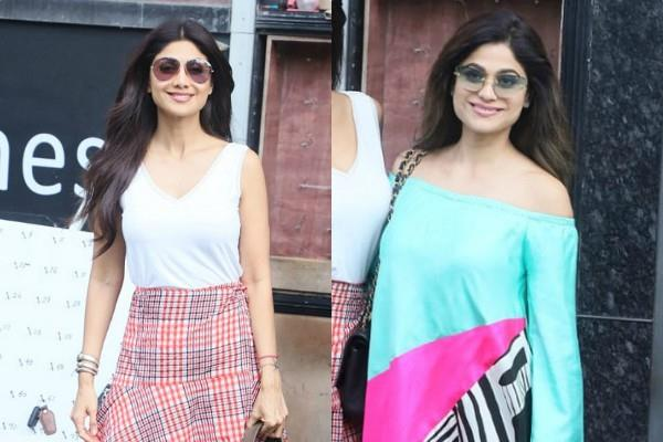 shilpa shetty outing with her sister shamita and family