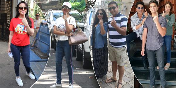 dia mirza preity zinta urmila and other stars step out to cast their vote