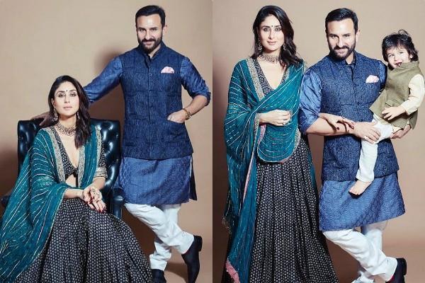 kareena kapoor royal photoshoot with saif ali khan and son taimur ali khan