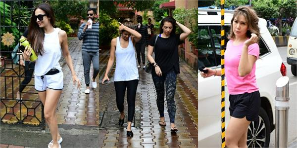 malaika arora seema khan kim sharma amrita arora spotted outside yoga class