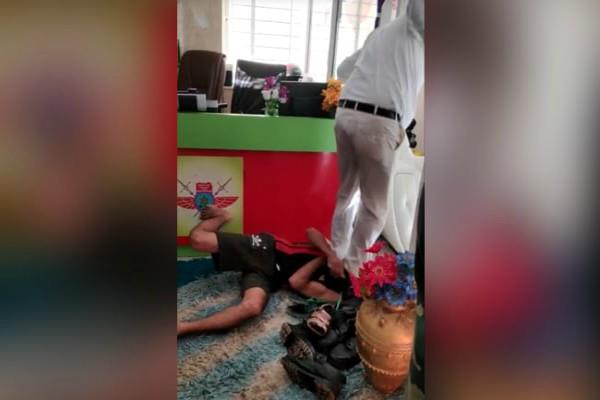 heartless boss video viral to beat a guard