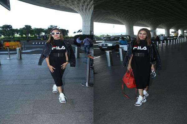 krystal d souza spotted at the airport in a stylish look