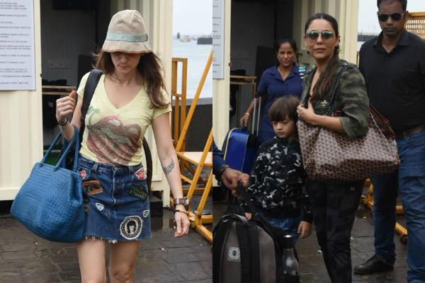 gauri khan sussanne khan and kids stars returned from their alibaug trip