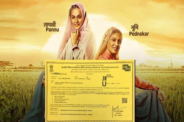 saand ki aankh gets a u certificate by cbfc