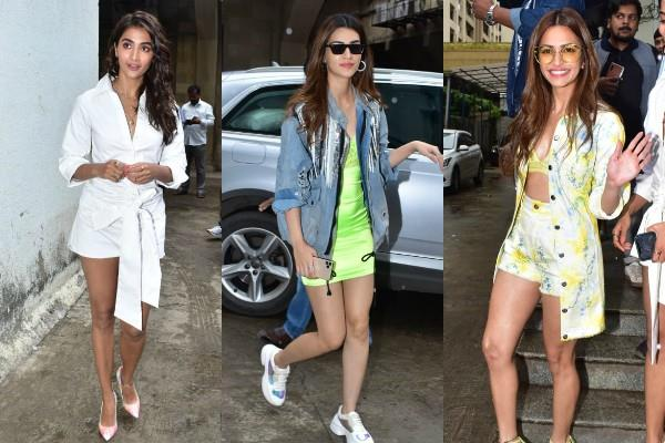 kriti sanon kriti kharbanda  pooja hegde and its stars promoted housefull 4
