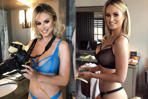 rhian sugden shows her cleavage and write  what age do your boobs stop growing