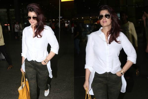 actress twinkle khanna spotted at airport