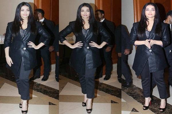 aishwarya reached the trailer release of  maleficent