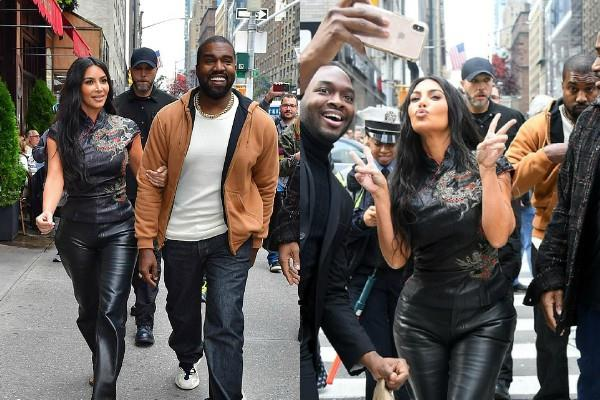 kim kardashian looks stunning as she spotted with hubby kanye west