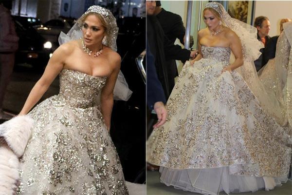 jennifer lopez bridal gown photos goes viral