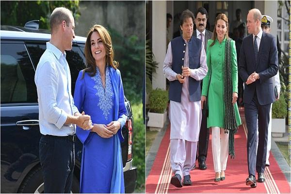 duchess of cambridge seen in the traditional look on a tour of pakistan