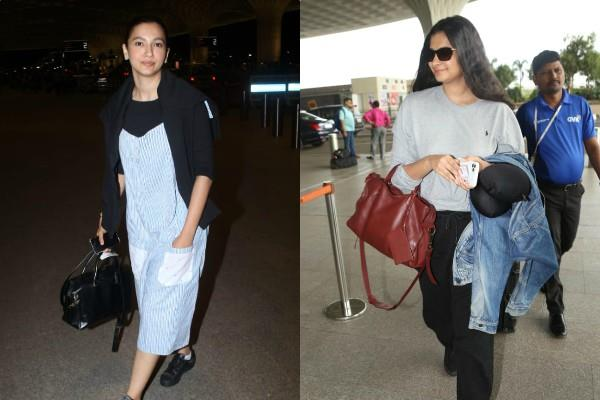 rhea kapoor gauhar khan airport looks pictures