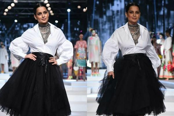 kangana ranaut trendy look at india fashion week